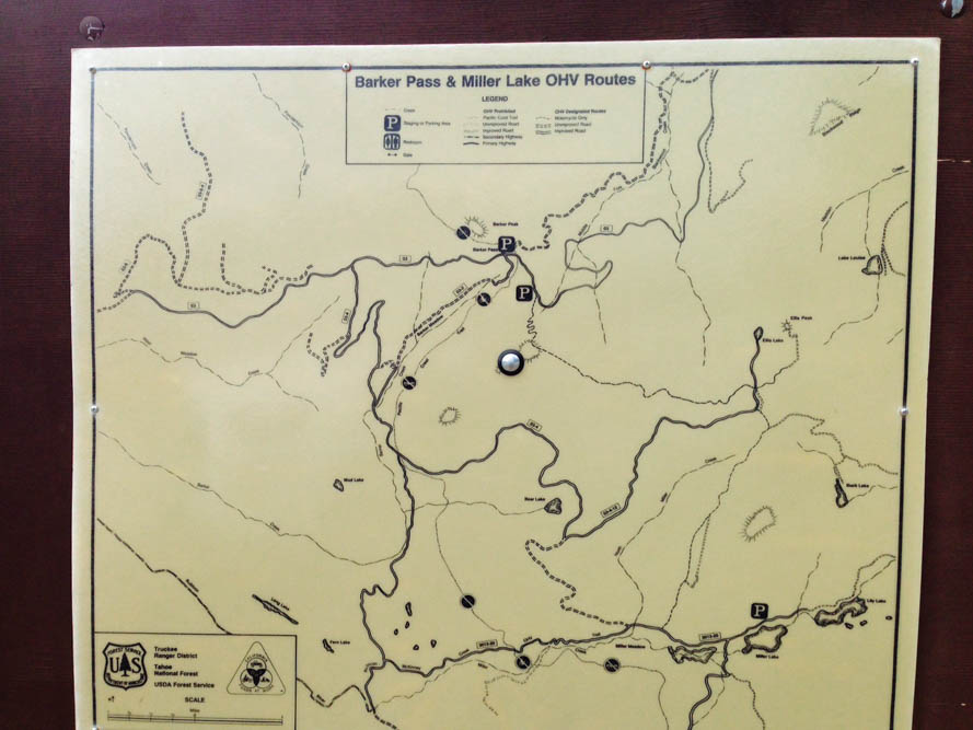 Barker Pass Miller Lake OHV Routes