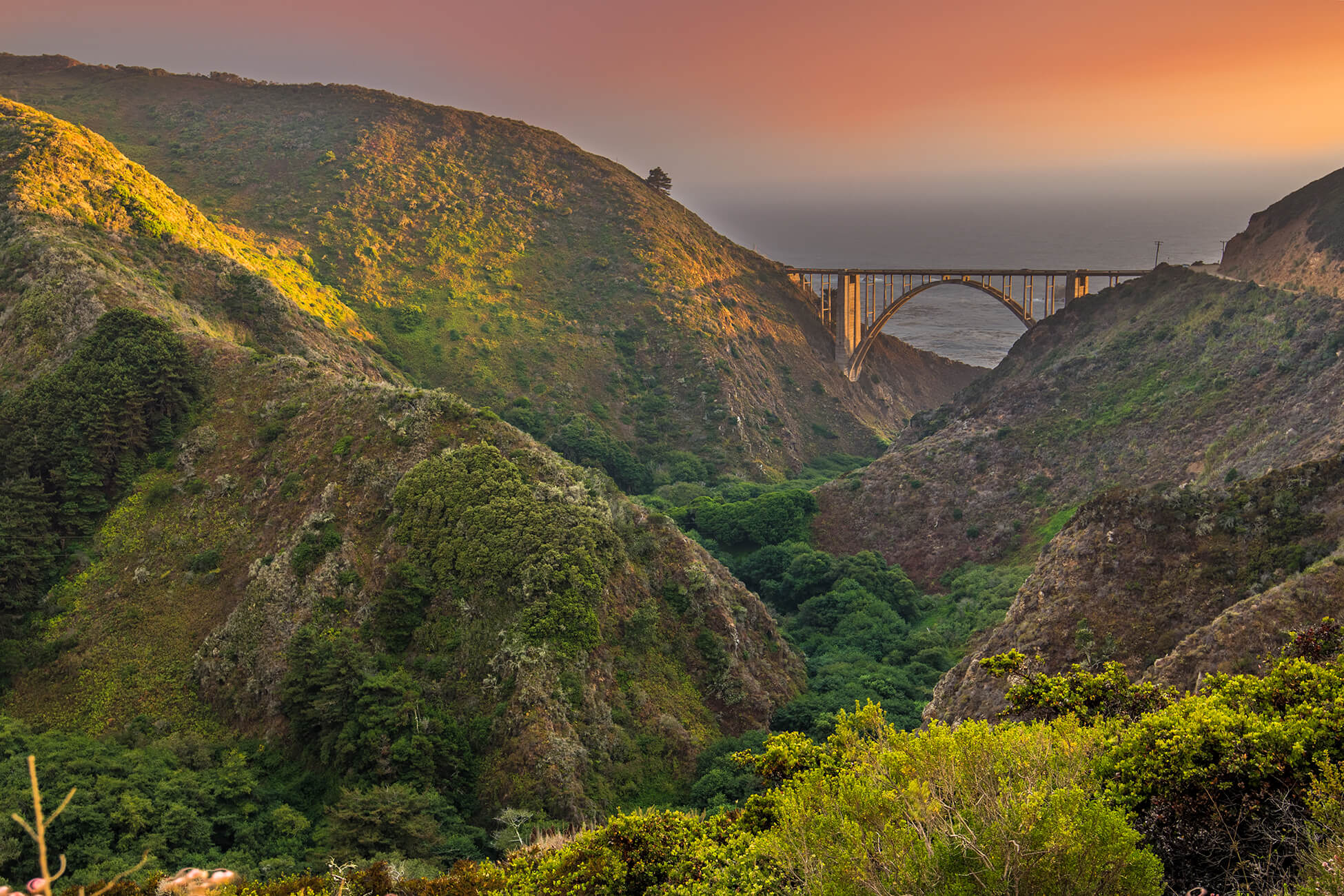 Bixby Bridge Sunset - Big Sur