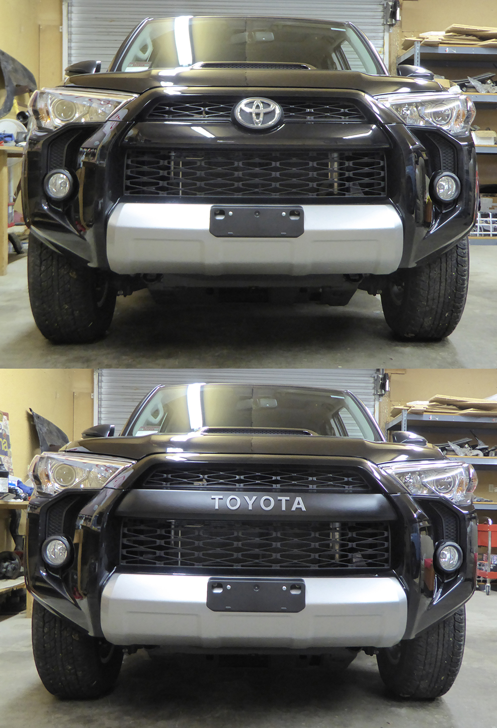 TRD Pro 4runner Grill Swap 5th Gen Before and After