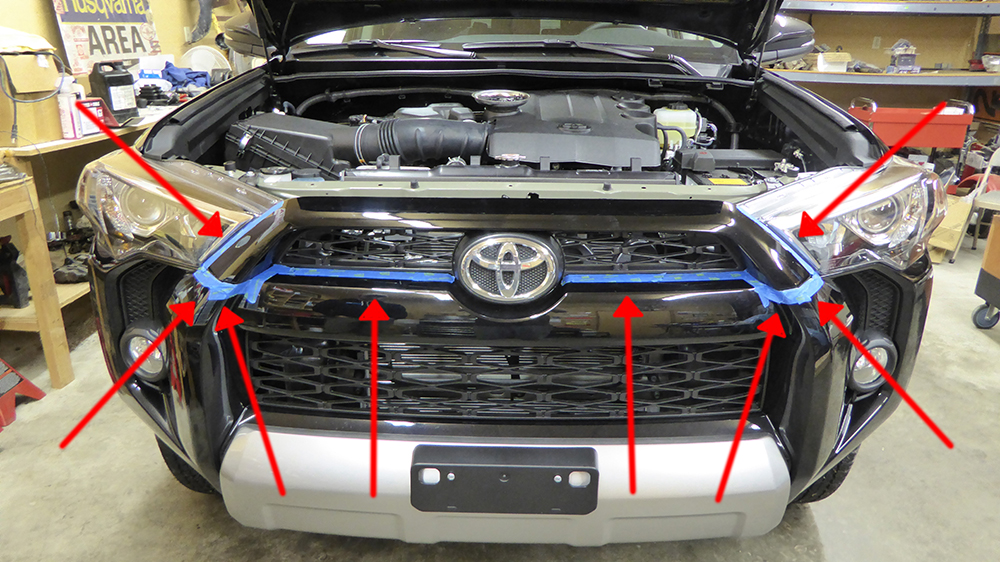 TRD Pro 4runner Grill Swap 5th Gen - Step 2 - Tape
