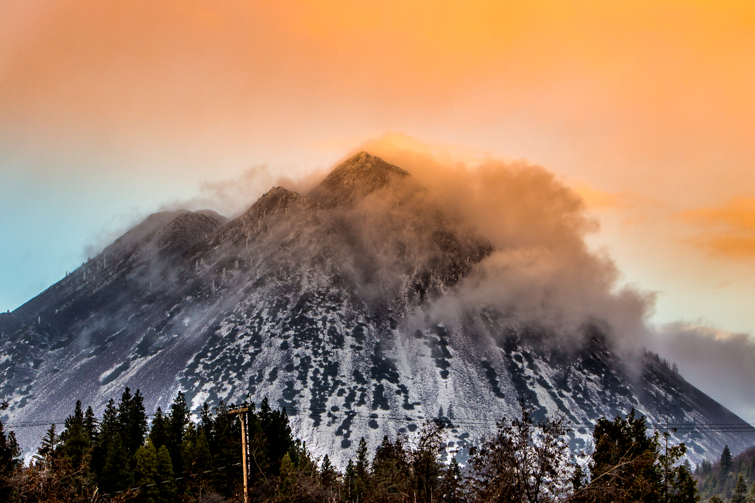 Black Butte Mountain Shasta at Sunset