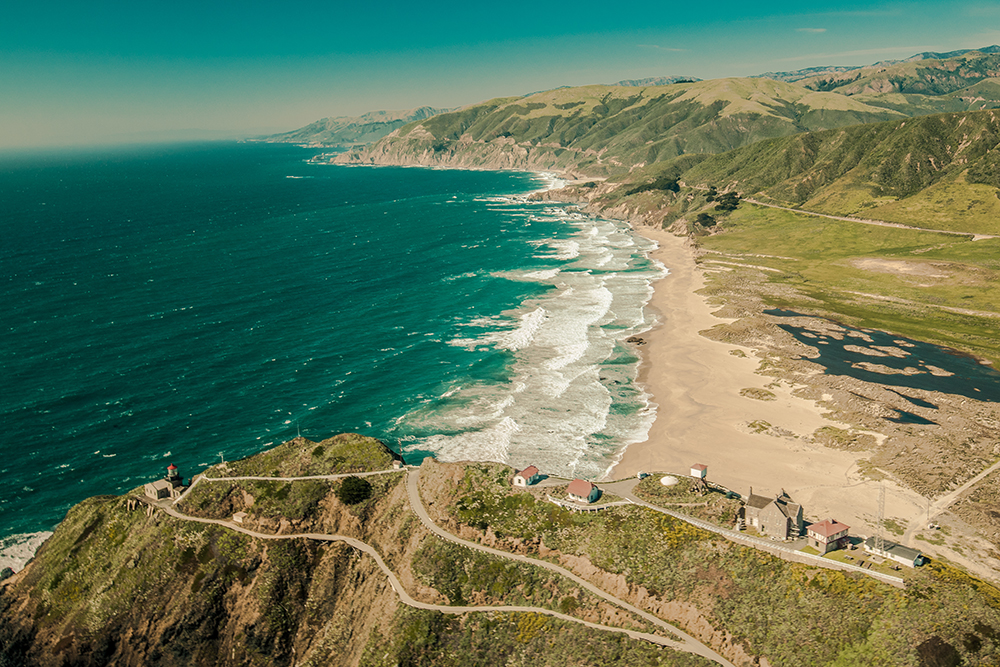 Point Sur State Historic Park Aerial