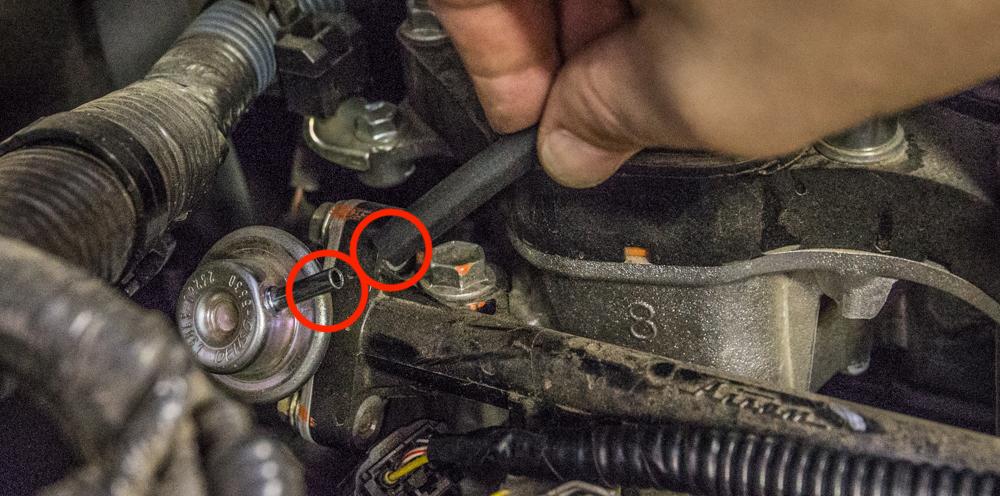 CAI Install - Step 13 - Remove OEM Tubing & Insert New Tubing