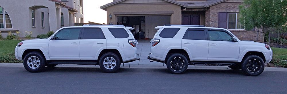 4Runner Level Kit Vs. No Level Kit Comparison