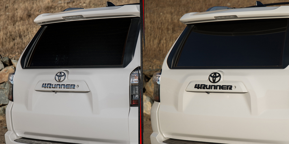 4Runner Black Out Emblem Kit - Before & After