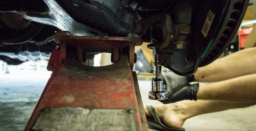 Remove Lower Control Arm Knuckle Mount Bolts