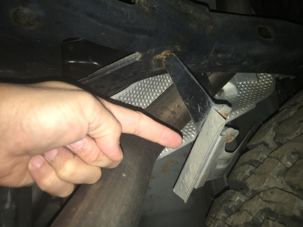 heat shield for the spare tire