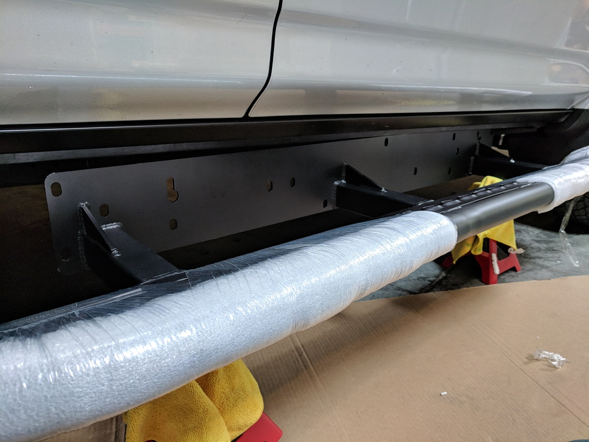 Passenger Side: RCI Rock Sliders Install (Jack Sliders Into Place)