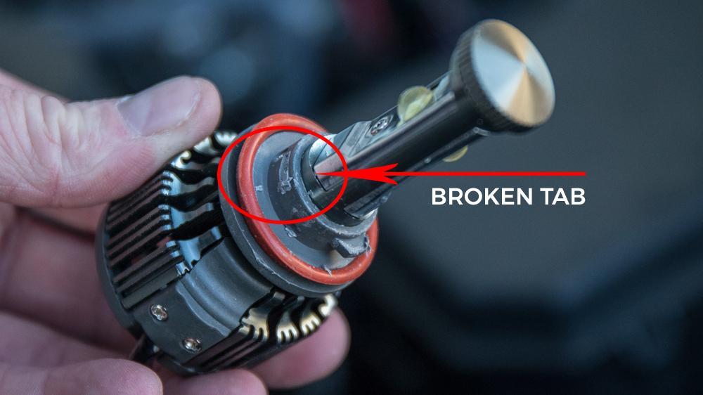 Broken LED Light Thread Tab