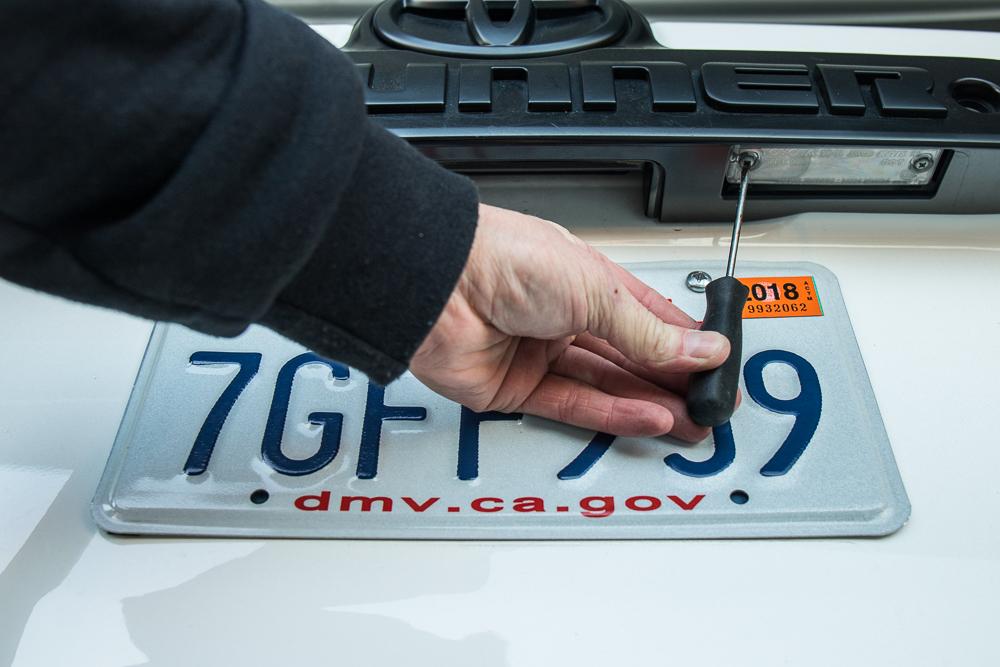 4Runner License Plate Install Step #1 - Unscrew Housing