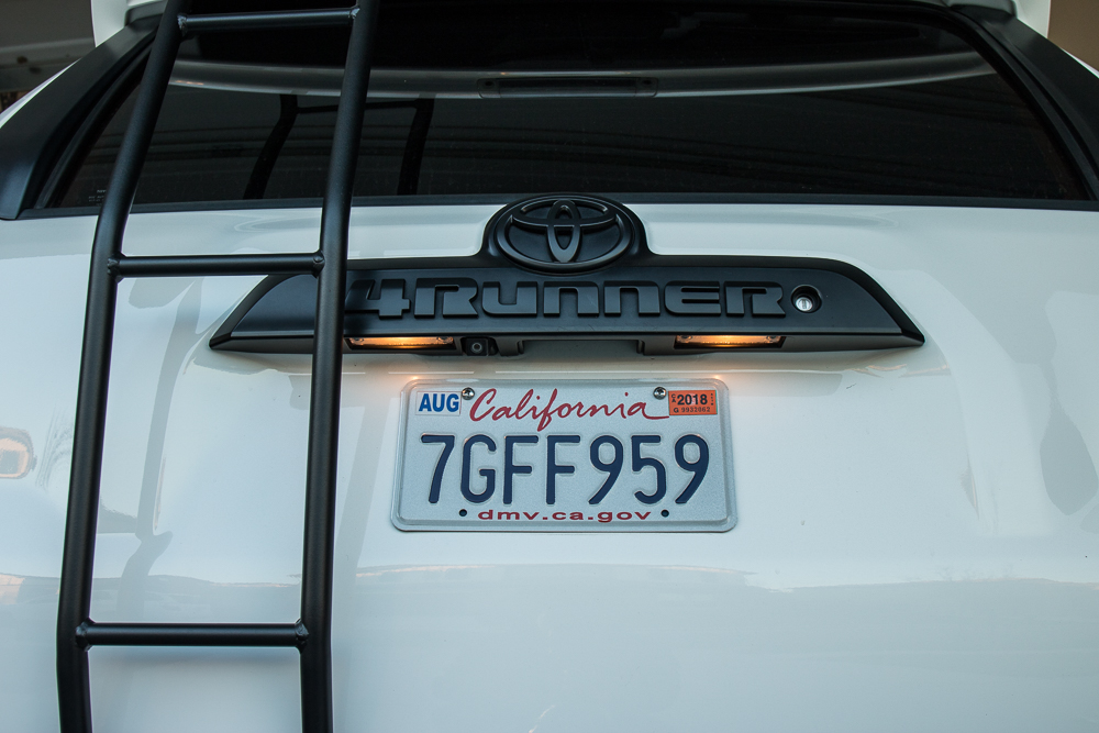 4Runner License Plate Install - Before