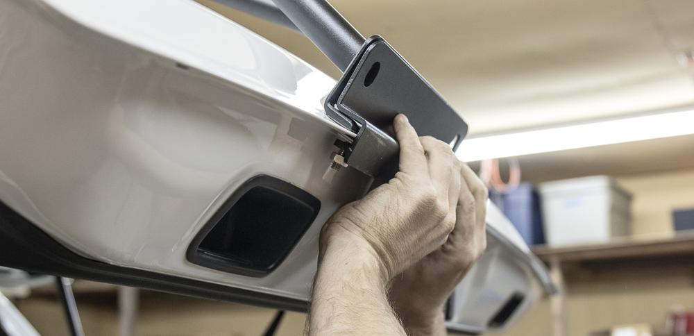 Gobi 4Runner Ladder Install - Connecting Bottom Hatch Attachment