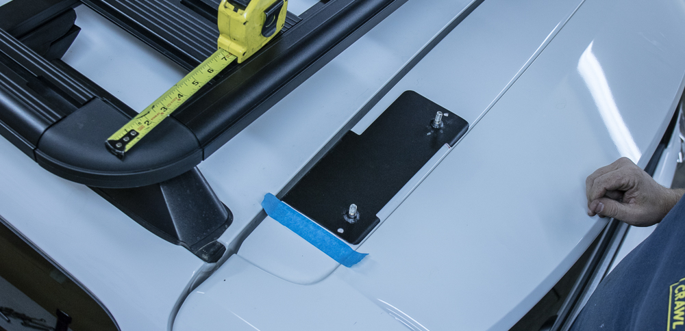 Gobi Ladder Install 5th Gen 4Runner - Marking Top Plate