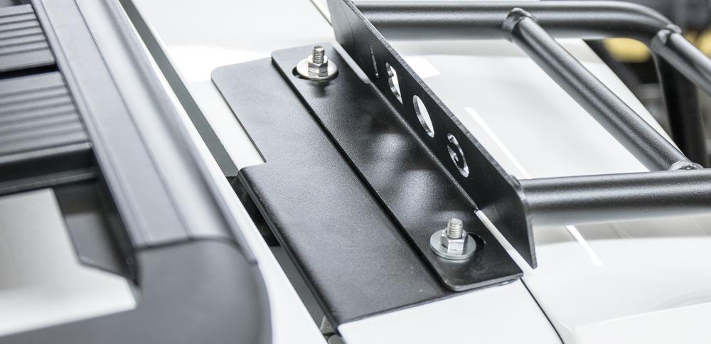 Gobi 4Runner Ladder Install - Setting Top Hatch Hardware