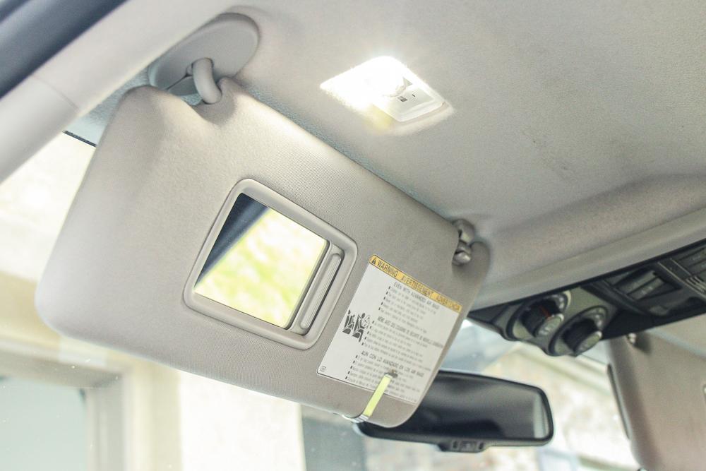 Vanity Visor LED Light Install Step #6 - Test Light Bulb