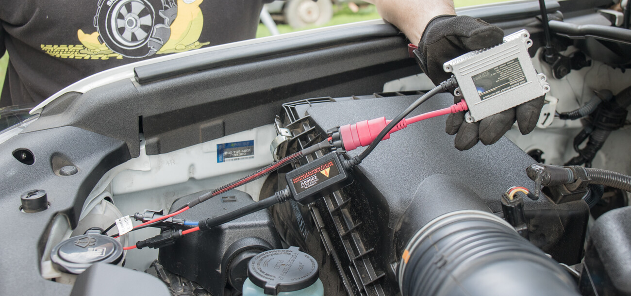 4Runner HID Install Step #12 - Find Somewhere to Mount your Ballasts