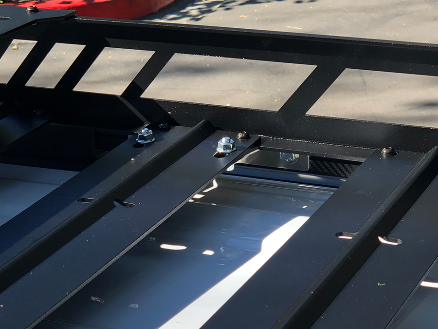 Installing NFab Roof Rack Step 2: Mounting Rack to Crossbar Hardware