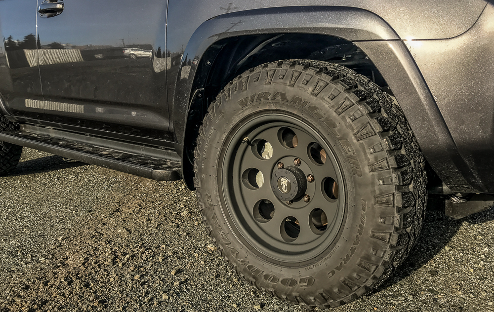 Pro p 7069 with Goodyear Wrangler DuraTracs on 4Runner