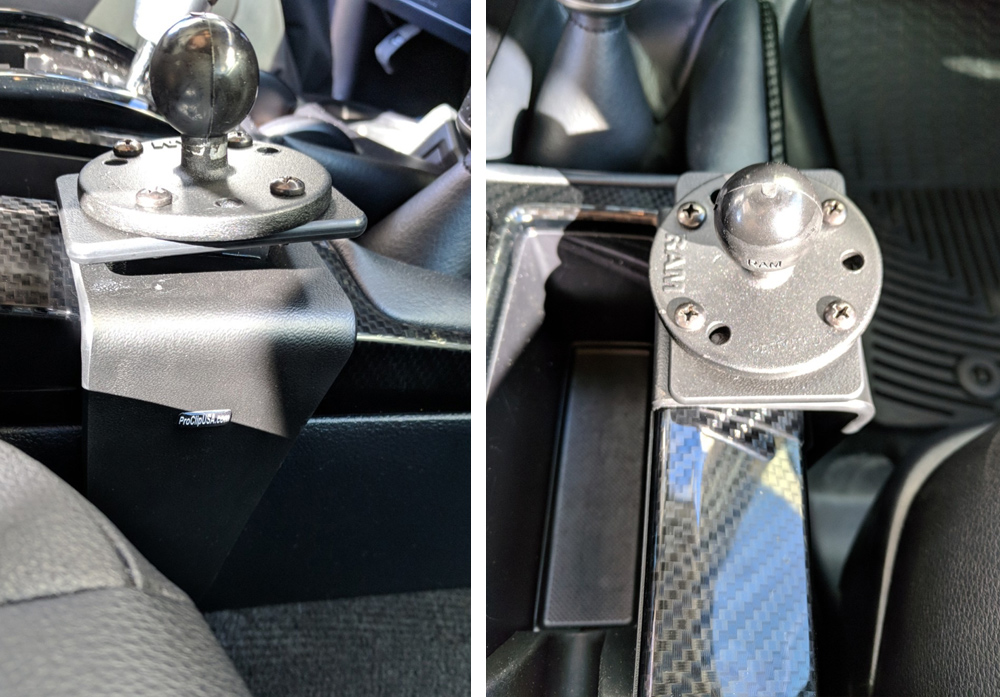 Pro Clip Mount to Center Console on Passenger Side