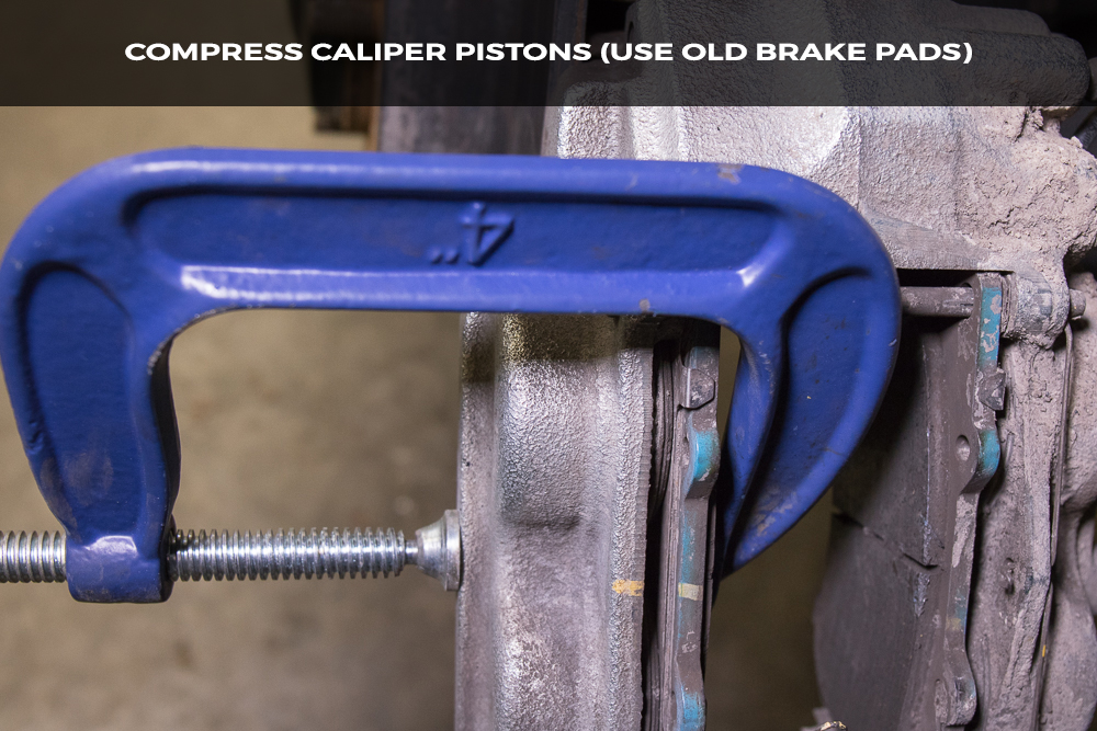 Compress Brake Caliper Pistons