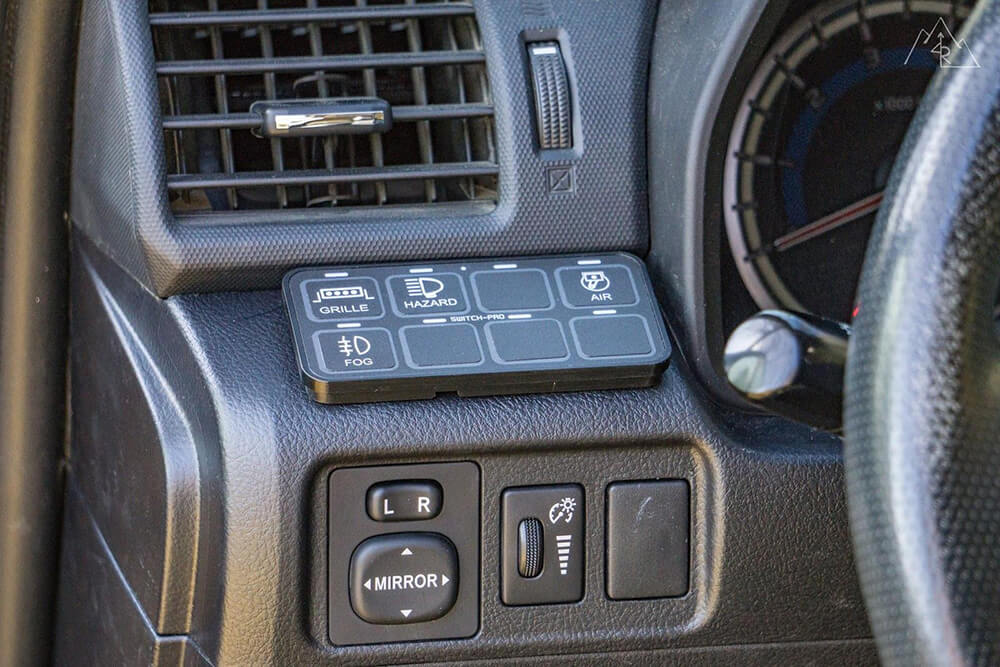 switch pro 9100 power tray install on 5th gen 4runner. Black Bedroom Furniture Sets. Home Design Ideas