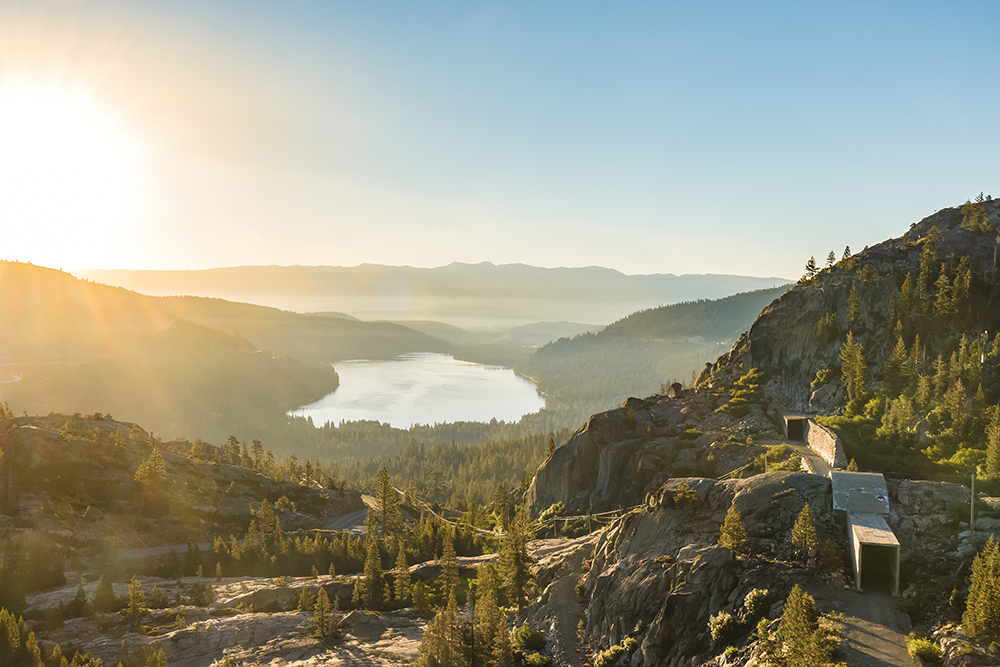 Donner Lake & China Wall - Donner Pass