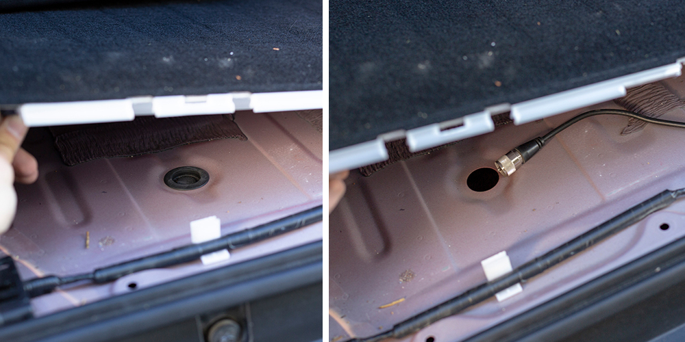 Step #2: Removing the Rear Cargo Area
