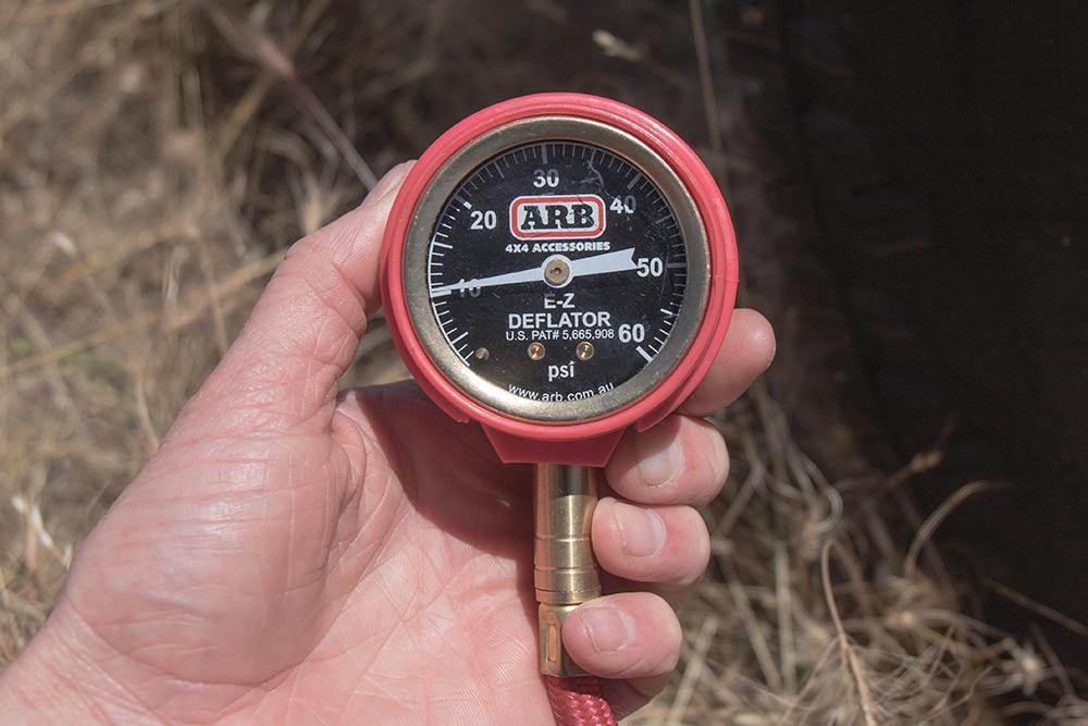 Turn off the Compressor and check Tire Pressure