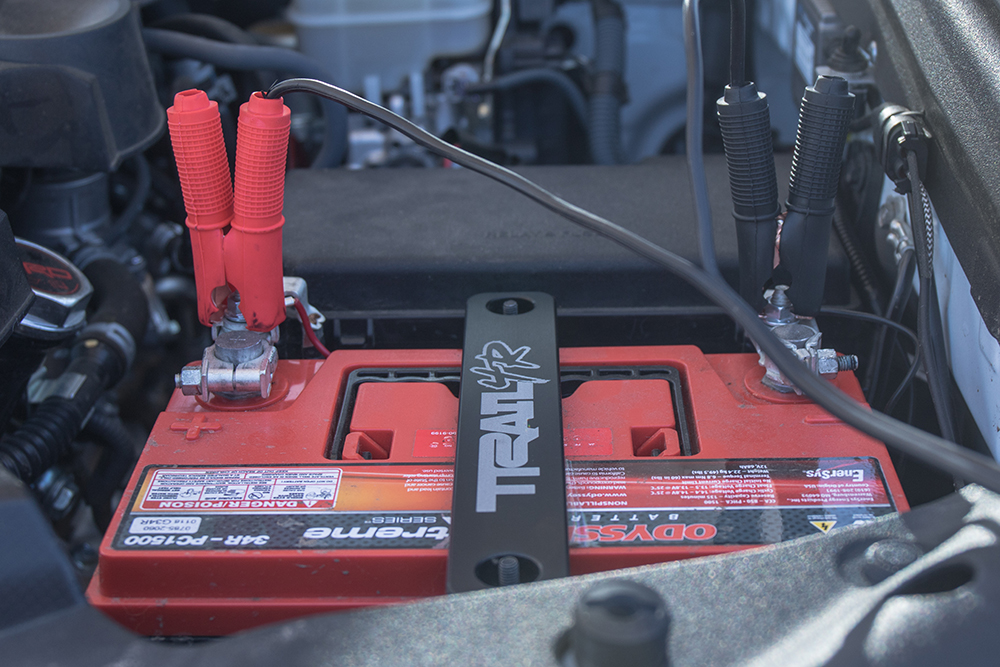 Connect Battery Clamps to Battery Terminals