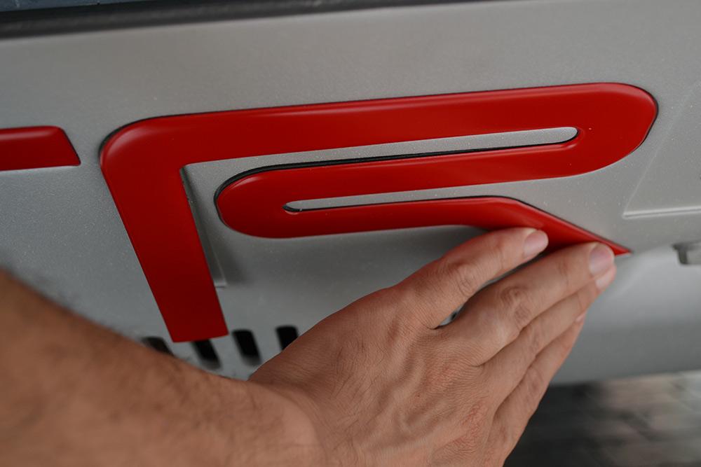 Red TRD Skid Plate Letters 4Runner