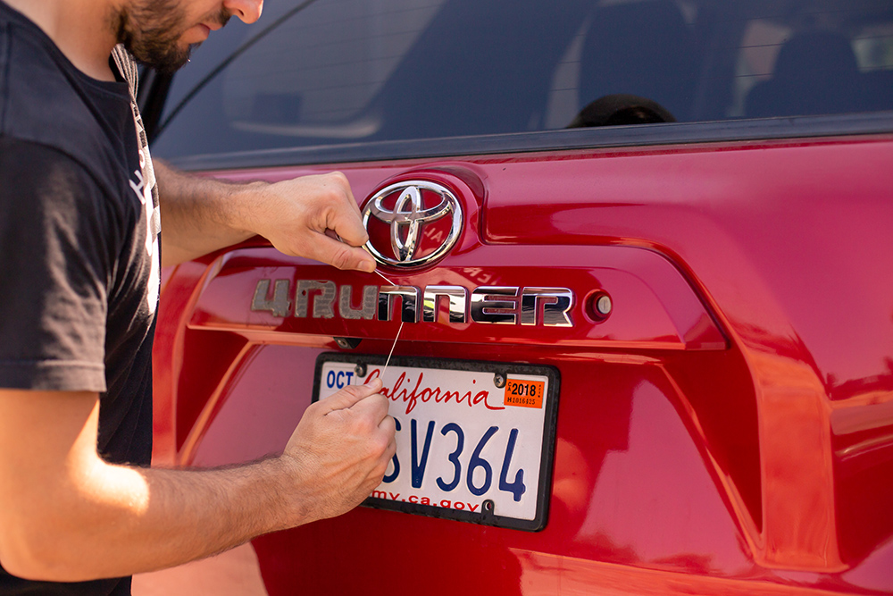 STEP #1: Removal of 4Runner Letters