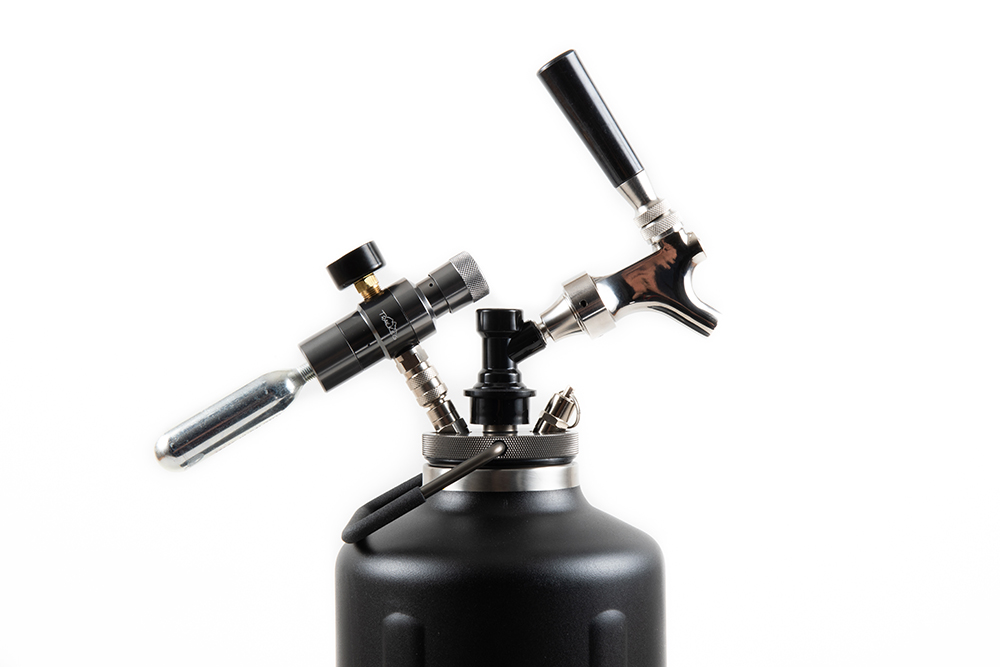 Pressurized Beer Growler for Explorers & Craft Beer Drinkers