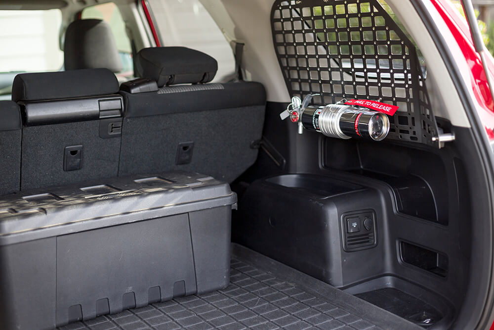 Fire Extinguisher on the MOLLE Panel