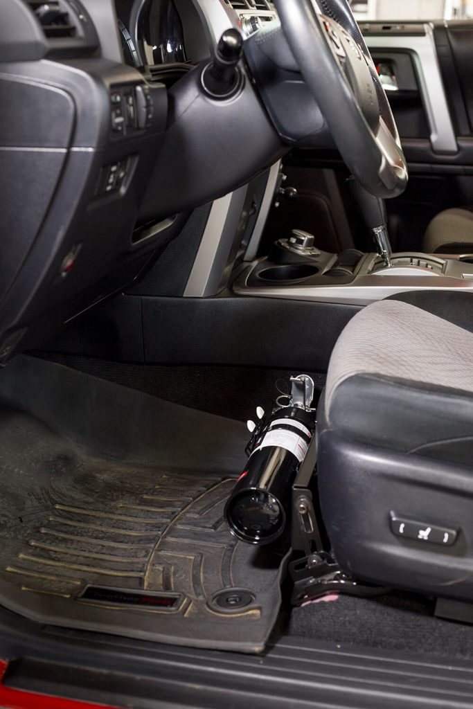 Mounting Fire Extinguisher Under 4Runner (5th Gen) Seat