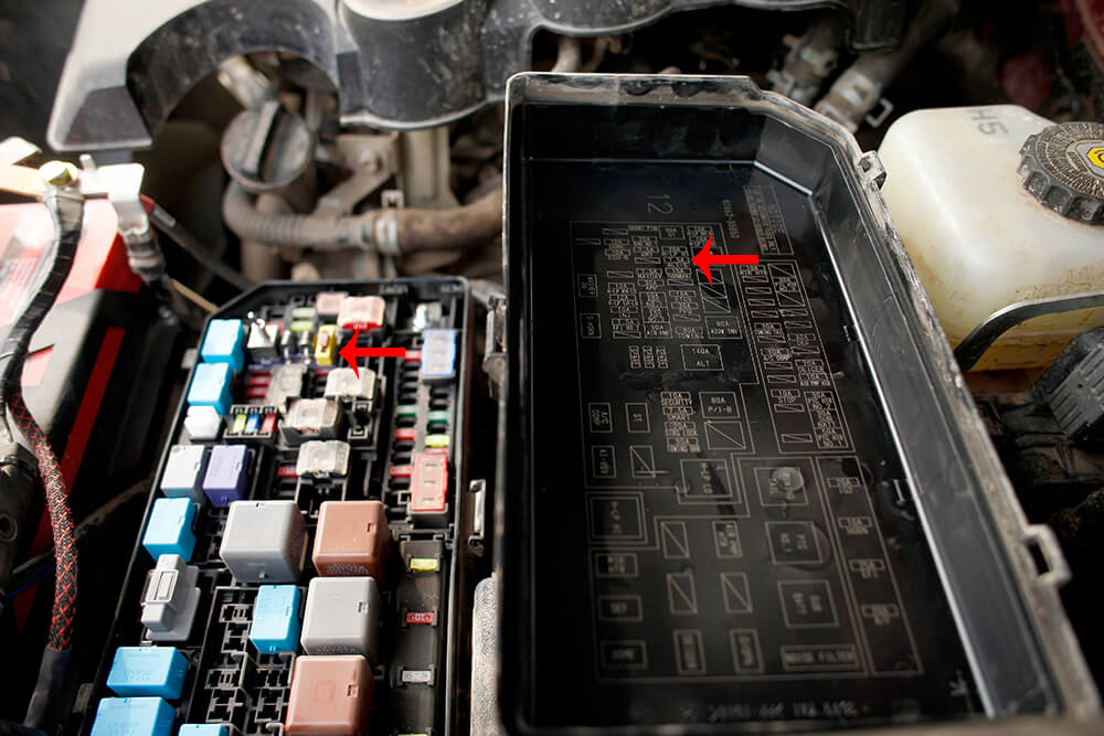 Shut off your vehicle and open fuse box