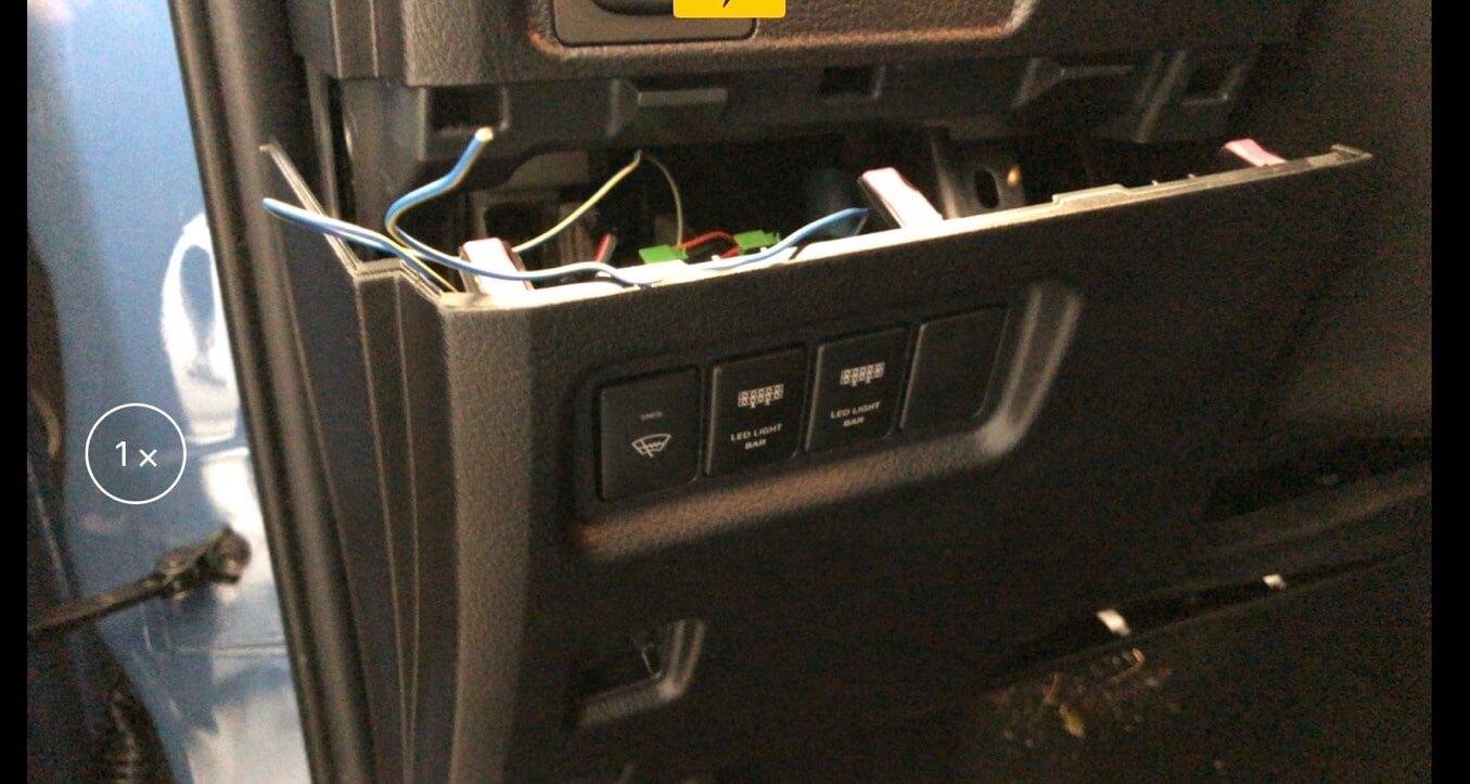 Step 2: Drop the Dash ARB Button Installation on 4Runner