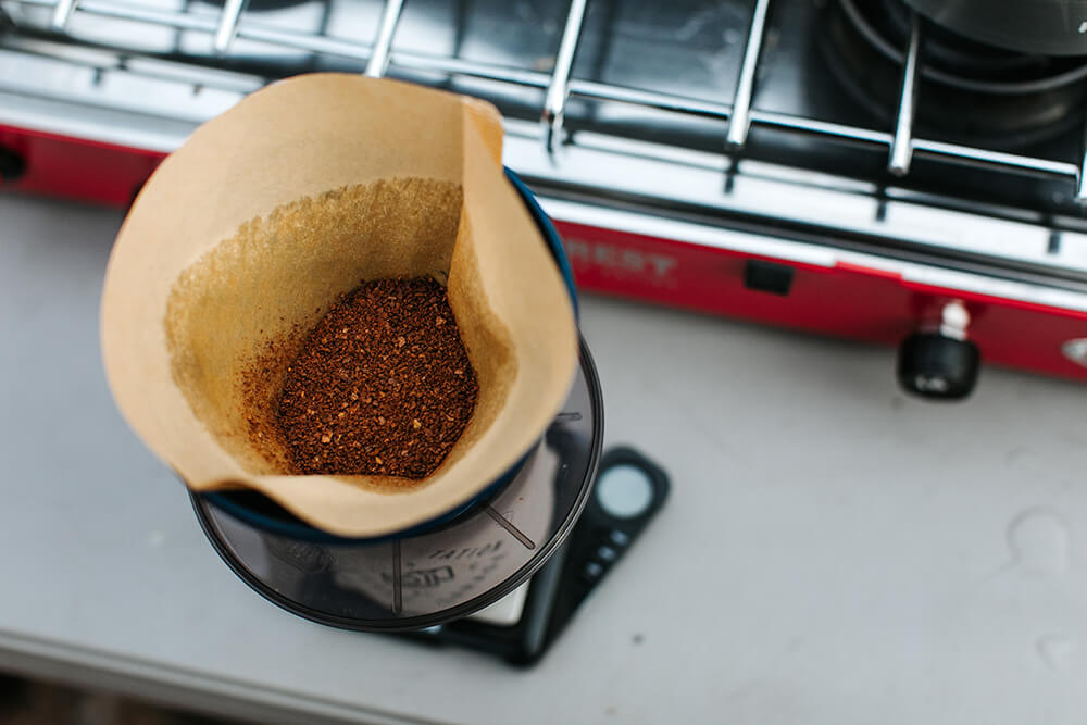 STEP 4, Add your coffee grounds