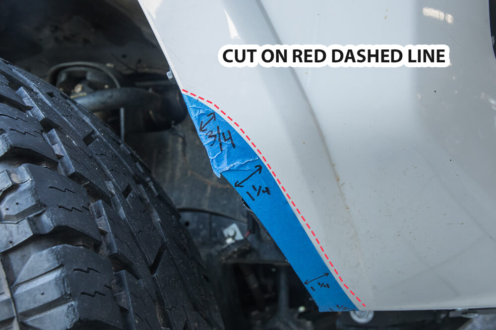 Cutting Wheel Wells and Fender Liners (HowTo)