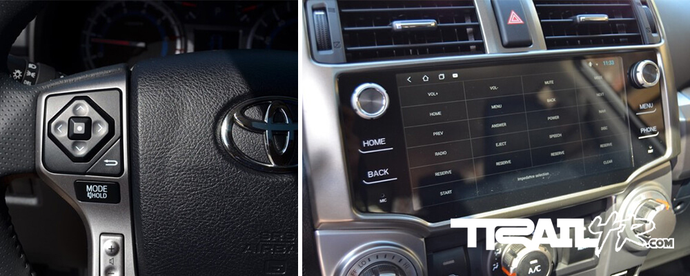 T8 Head Unit - Screen Controls