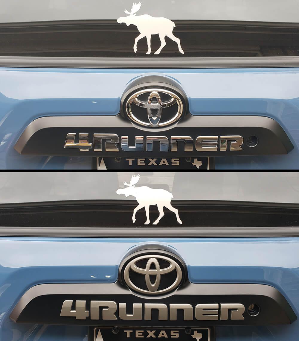 Change Emblem Color with DIY Blackout Emblem Kit - TRD Pro 5th Gen 4Runner - Before & After