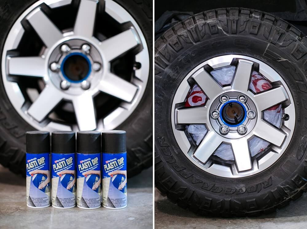 How To Blackout Using Plasti Dip For 5th Gen 4Runner Trail Edition Wheels