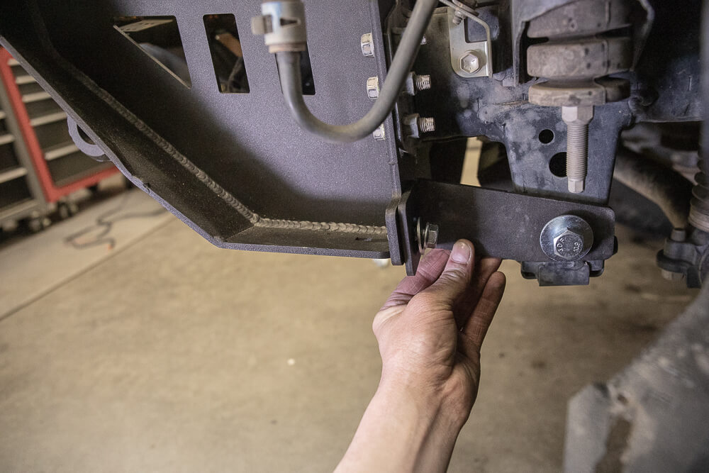 Passenger and Driver Bumper Brackets to Frame Rail