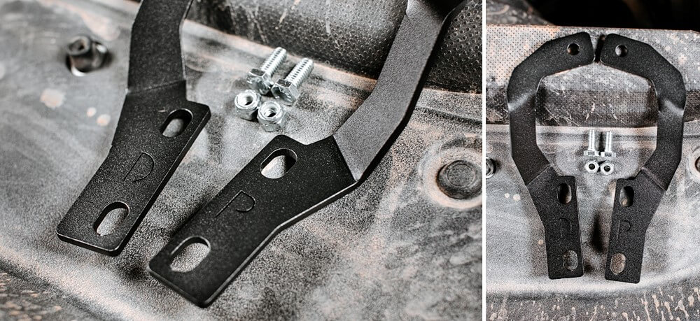 Cali Raised LED Low Profile Ditch Brackets - 5th Gen 4Runner