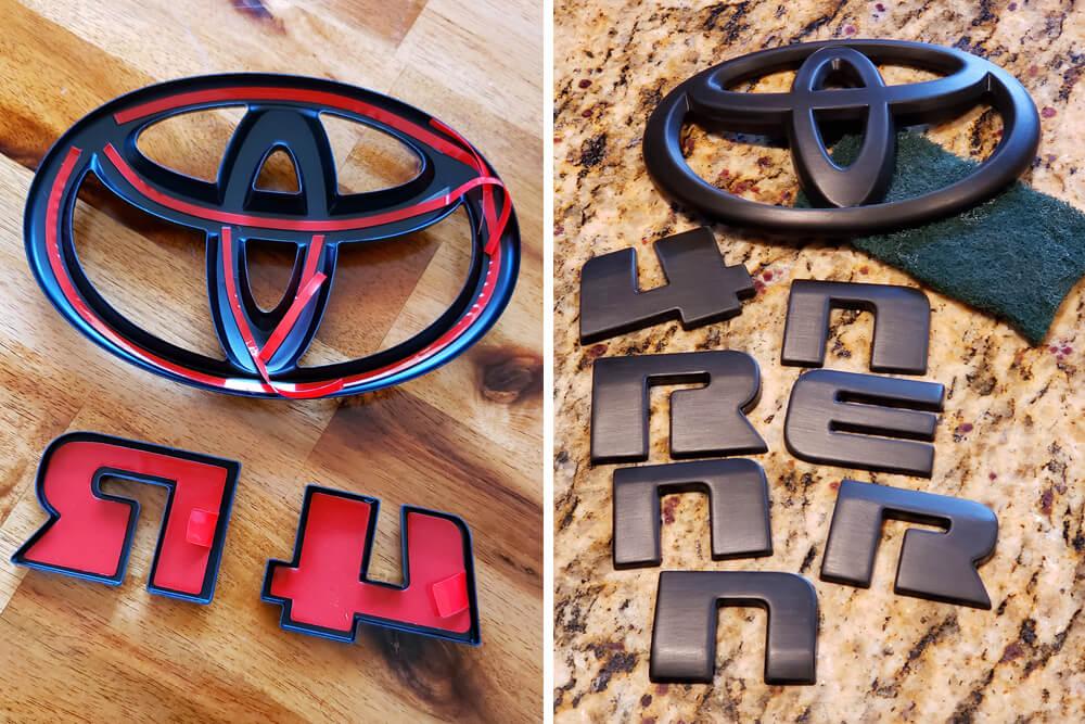 Change Emblem Color with DIY Blackout Emblem Kit - TRD Pro 5th Gen 4Runner -