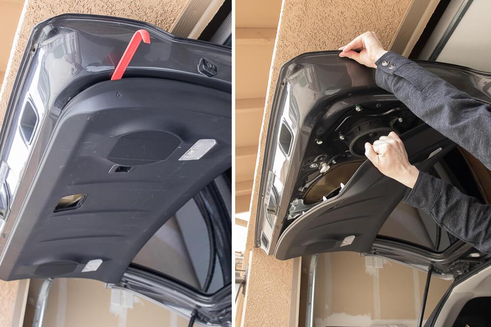 Step #2: Pop off cargo Door cover & Pop Tabs