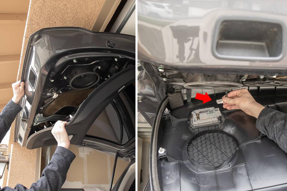 Step #3: Pop all Tabs & Unplug Door Lights