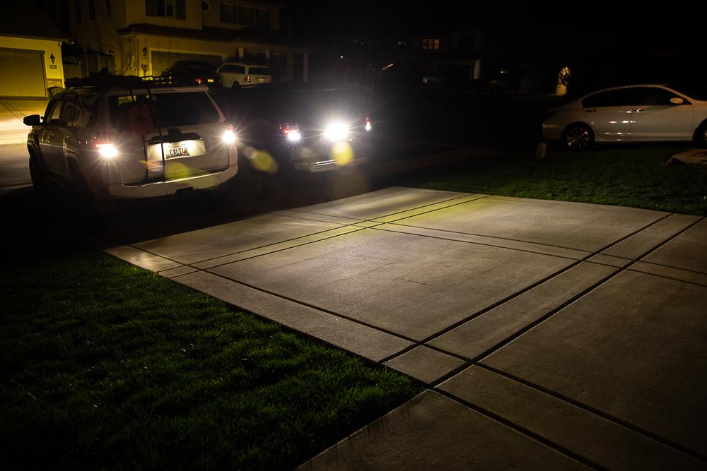 VLEDS LPR Reverse Light (ON) Vs. 921 VLEDS Bulb