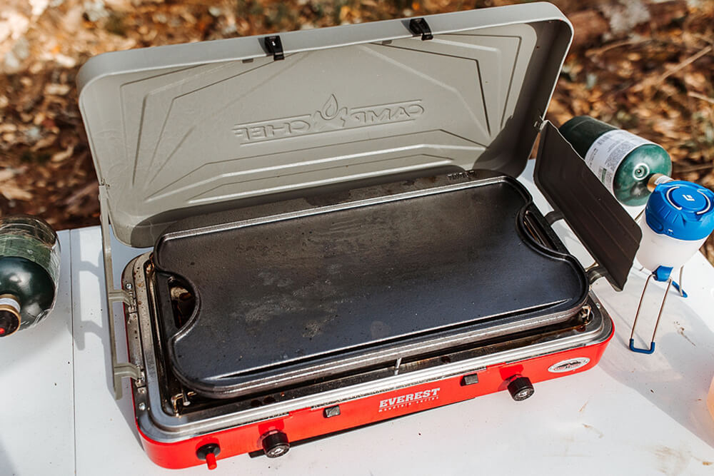 Lodge Cast Iron Cooking Griddle - 12 Camping Essentials With Kids Under 12