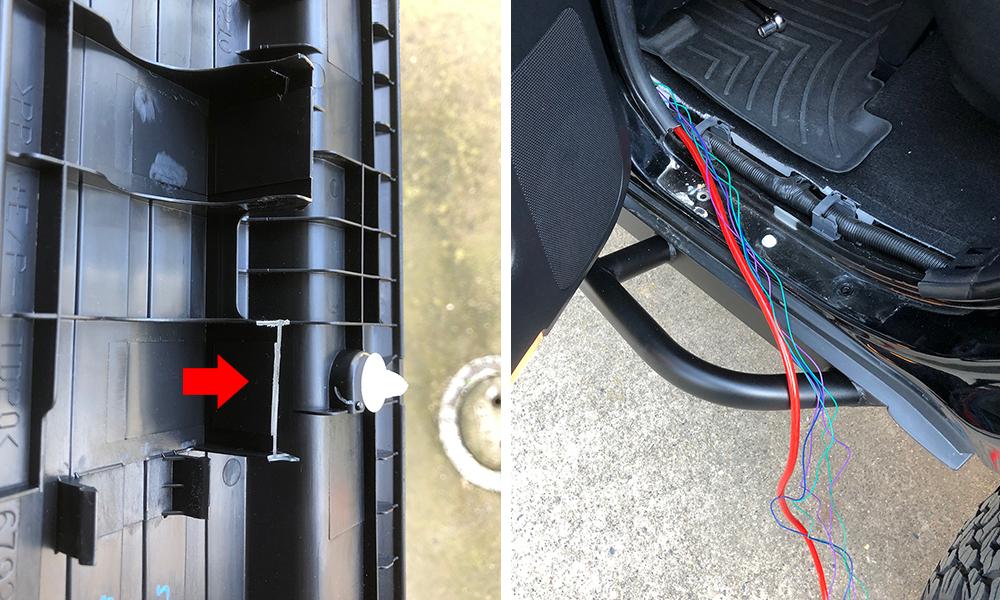 4Runner Floor Plastics - Speaker Wiring