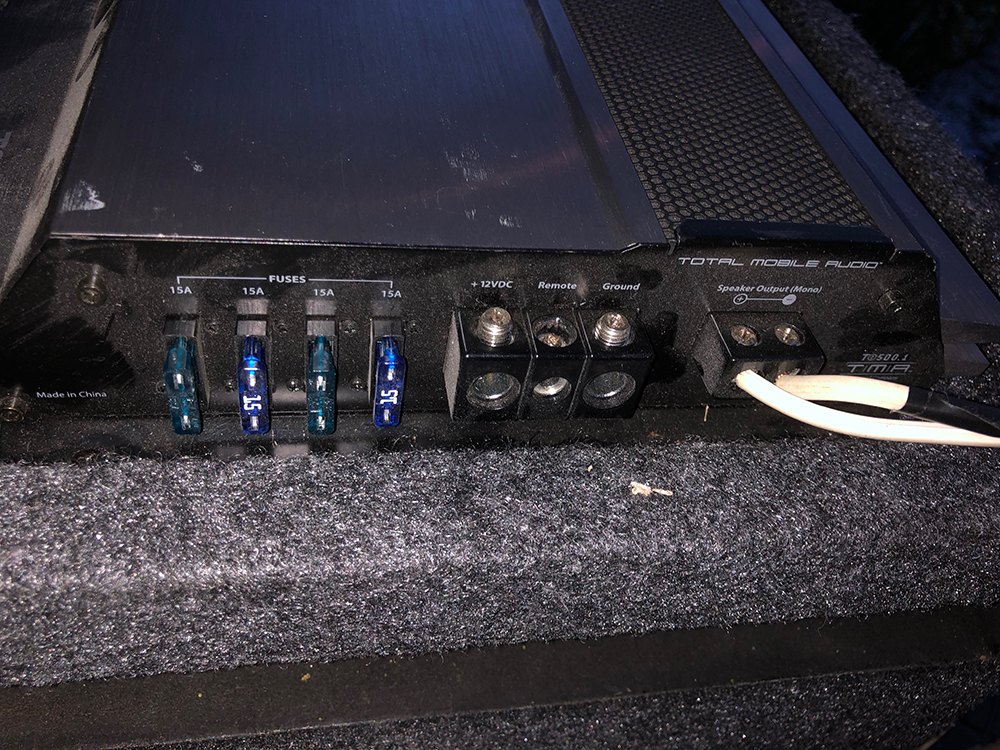 Connect TacoTunes Wire to Amp
